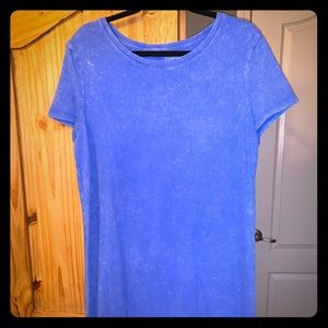 Weathered cotton t-shirt dress